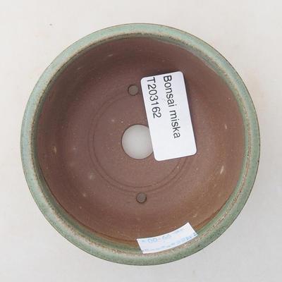 Keramische Bonsai-Schale 9 x 9 x 4 cm, Farbe grün - 3