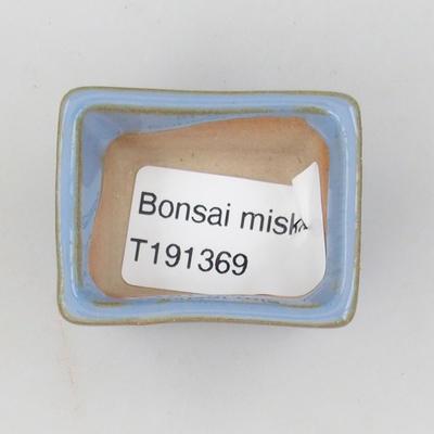 Mini-Bonsaischale 4 x 3 x 2,5 cm, Farbe blau - 3