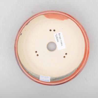 Keramik Bonsai Schüssel 15 x 15 x 4 cm, burgunder Farbe - 3