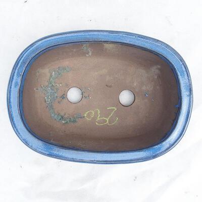 Bonsaischale 29 x 21 x 9 cm, Farbe blau - 3
