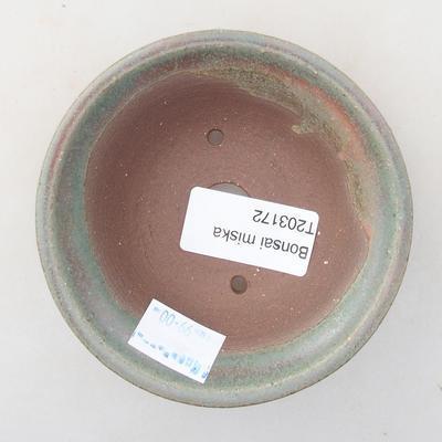 Keramische Bonsai-Schale 9 x 9 x 3 cm, Farbe grün - 3