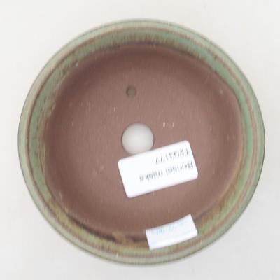 Keramik Bonsai Schüssel 11 x 11 x 4 cm, Farbe grün - 3