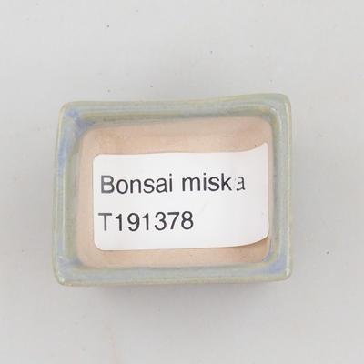 Mini-Bonsaischale 4 x 3,5 x 2 cm, Farbe blau - 3