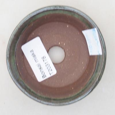 Keramische Bonsai-Schale 8 x 8 x 2,5 cm, Farbe grün - 3