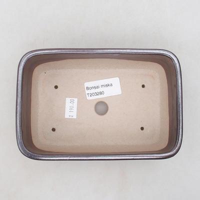 Keramische Bonsai-Schale 16 x 10 x 5,5 cm, braune Farbe - 3