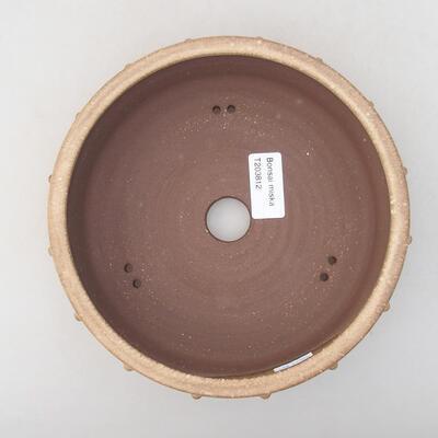 Keramik Bonsai Schüssel 18 x 18 x 5 cm, beige Farbe - 3