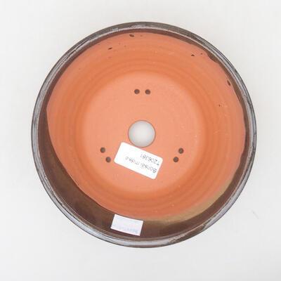 Keramische Bonsai-Schale 16,5 x 16,5 x 6 cm, braune Farbe - 3