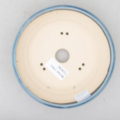 Keramische Bonsai-Schale 15 x 15 x 4,5 cm, Farbe blau - 3