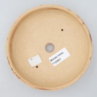 Keramik Bonsaischale 15 x 15 x 3,5 cm, Farbe rissig - 3