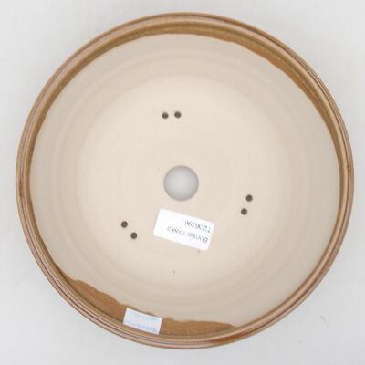 Keramische Bonsai-Schale 20 x 20 x 6,5 cm, braune Farbe - 3