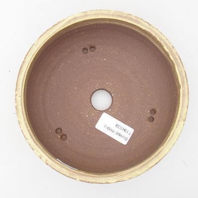 Keramik Bonsai Schüssel 16 x 16 x 5 cm, gelbe Farbe - 3