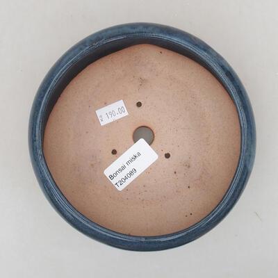 Keramische Bonsai-Schale 18 x 18 x 5 cm, Farbe braun - 3