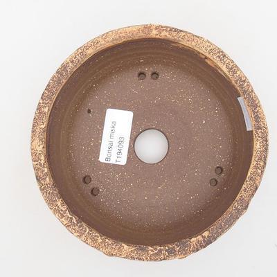 Keramische Bonsai-Schale 14 x 14 x 6 cm, Farbe grün - 3