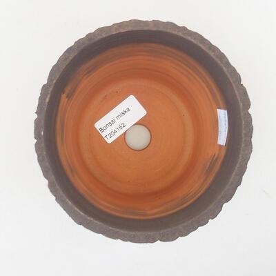 Keramische Bonsai-Schale 13 x 13 x 10,5 cm, graue Farbe - 3