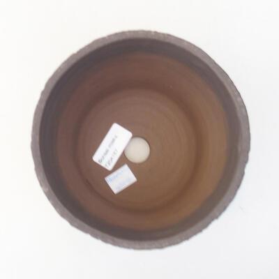 Keramische Bonsai-Schale 14,5 x 14,5 x 12,5 cm, Farbe schwarz - 3