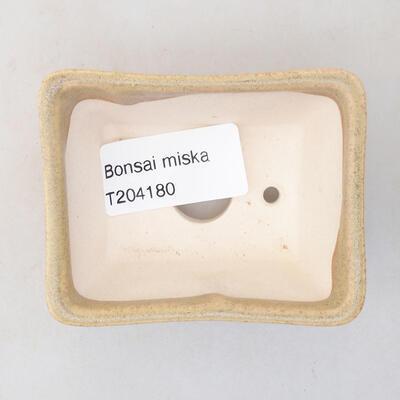 Mini Bonsai Schüssel 7 x 5,5 x 3,5 cm, beige Farbe - 3