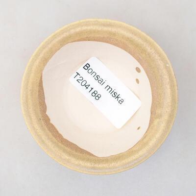 Mini Bonsai Schüssel 7 x 7 x 3 cm, beige Farbe - 3