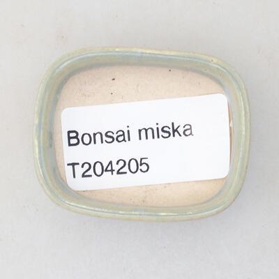 Mini Bonsai Schüssel 4,5 x 3,5 x 1,5 cm, Farbe blau - 3