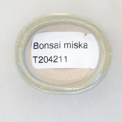 Mini Bonsai Schüssel 4 x 3,5 x 1,5 cm, Farbe blau - 3
