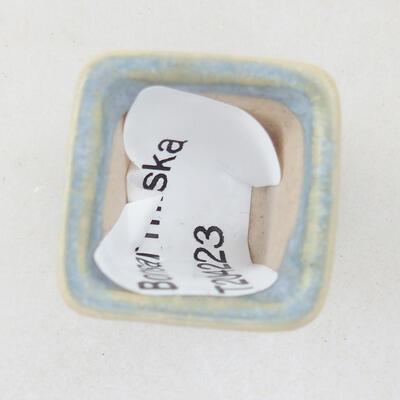 Mini Bonsai Schüssel 2 x 2 x 2,5 cm, Farbe blau - 3