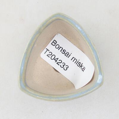 Mini Bonsai Schüssel 4 x 4 x 3 cm, Farbe blau - 3