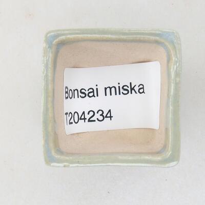 Mini Bonsai Schüssel 3 x 3 x 2,5 cm, Farbe blau - 3