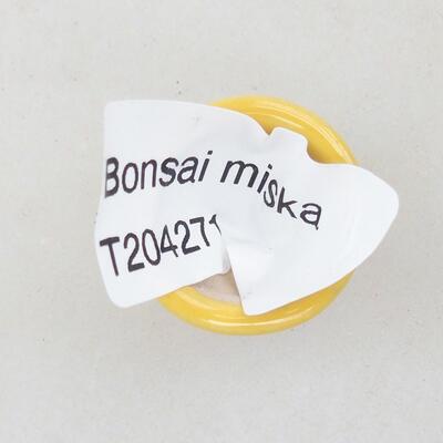 Mini Bonsai Schüssel 2 x 2 x 1,5 cm, Farbe gelb - 3