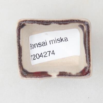 Mini Bonsai Schüssel 4 x 3 x 2,5 cm, Farbe rot - 3