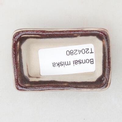 Mini Bonsai Schüssel 6 x 3,5 x 2,5 cm, Farbe rot - 3