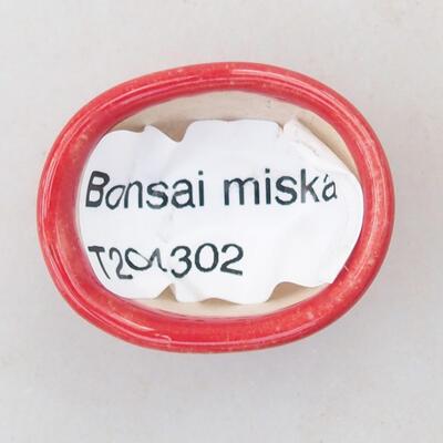 Mini Bonsai Schüssel 3 x 2,5 x 1,5 cm, Farbe rot - 3