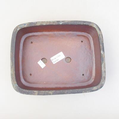 Keramische Bonsai-Schale 23,5 x 18 x 7 cm, Farbe braungrau - 3