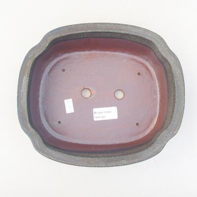 Keramische Bonsai-Schale 23 x 20 x 7 cm, Farbe grau - 3