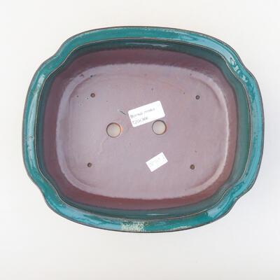 Keramische Bonsai-Schale 23 x 20 x 7 cm, Farbe grün - 3