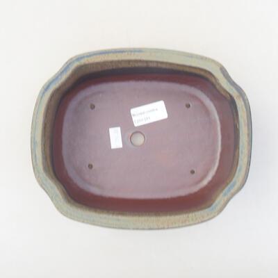 Keramische Bonsai-Schale 20,5 x 16,5 x 7 cm, graue Farbe - 3