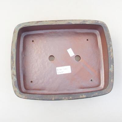 Keramik Bonsai Schüssel 25 x 20 x 6 cm, Farbe braun - 3