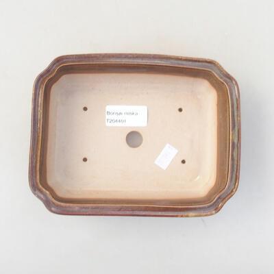 Keramische Bonsai-Schale 17 x 13,5 x 4,5 cm, braune Farbe - 3