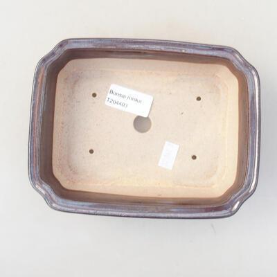 Keramische Bonsai-Schale 17 x 13 x 7 cm, Farbe braun - 3