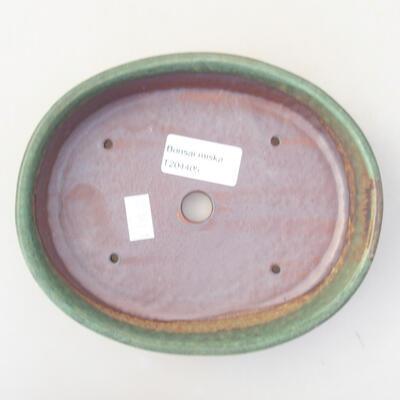 Keramische Bonsai-Schale 17 x 14 x 4 cm, Farbe grün - 3