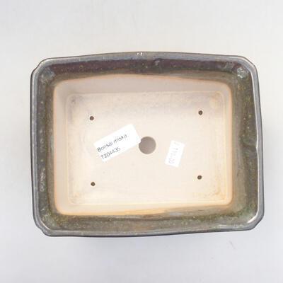 Keramische Bonsai-Schale 17,5 x 14 x 6,5 cm, Farbe grün - 3