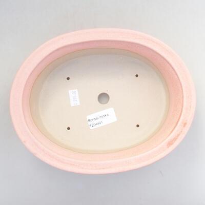 Keramik Bonsai Schüssel 22 x 17 x 6 cm, Farbe rosa - 3