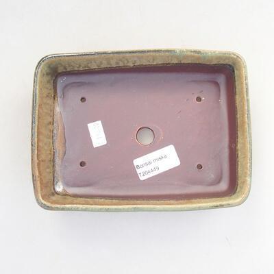Keramische Bonsai-Schale 18 x 13 x 4,5 cm, Farbe grün - 3