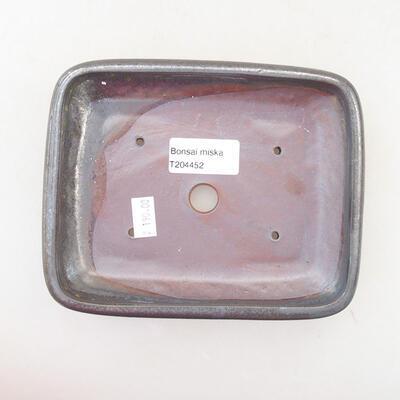 Bonsai-Keramikschale 15,5 x 12 x 3,5 cm, Metallfarbe - 3