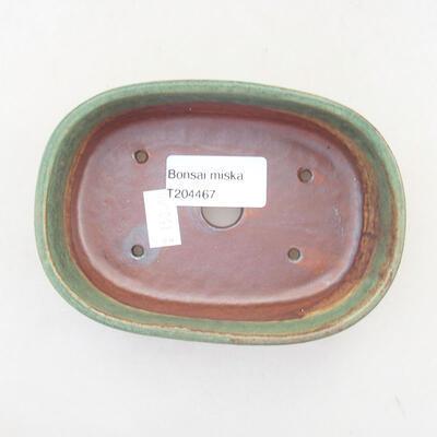 Keramische Bonsai-Schale 12,5 x 9 x 3,5 cm, Farbe grün - 3
