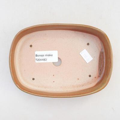 Keramische Bonsai-Schale 15,5 x 10,5 x 3 cm, braune Farbe - 3
