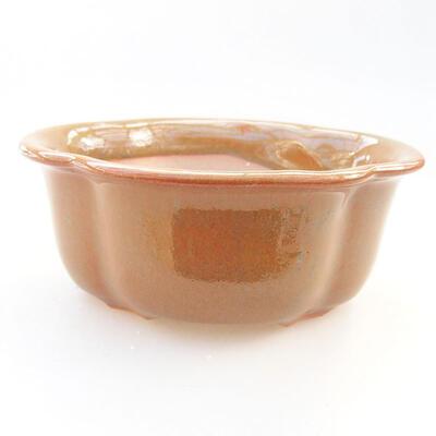 Keramische Bonsai-Schale 13 x 10,5 x 5 cm, braune Farbe - 3