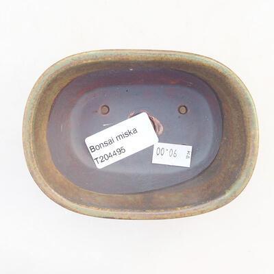 Keramische Bonsai-Schale 11,5 x 8 x 5 cm, Farbe grün - 3