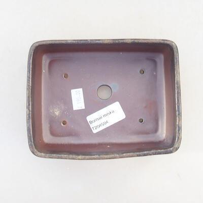 Keramische Bonsai-Schale 14,5 x 11 x 5 cm, braune Farbe - 3