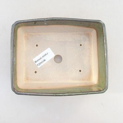 Keramische Bonsai-Schale 15,5 x 12,5 x 6 cm, Farbe grün - 3
