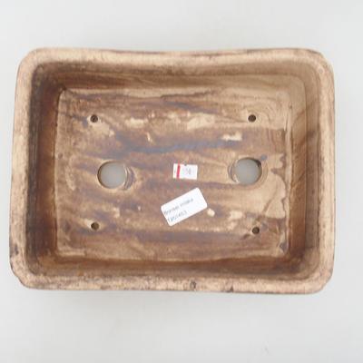 Keramik Bonsai Schüssel 25 x 19 x 7 cm, beige Farbe, zweite Qualität - 3