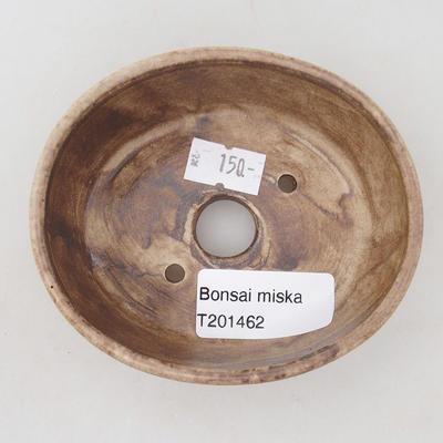 Keramische Bonsai-Schale 9,5 x 8,5 x 3,5 cm, beige Farbe - 3